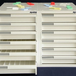 Styrokay Filing Cabinets for paraffin blocks