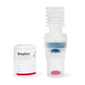 Safe containers for biopsy samples